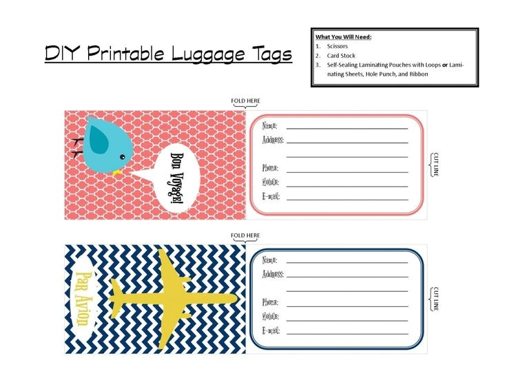Avery Luggage Tag Template 4 Best Images Of Avery Templates Luggage Tag Printable