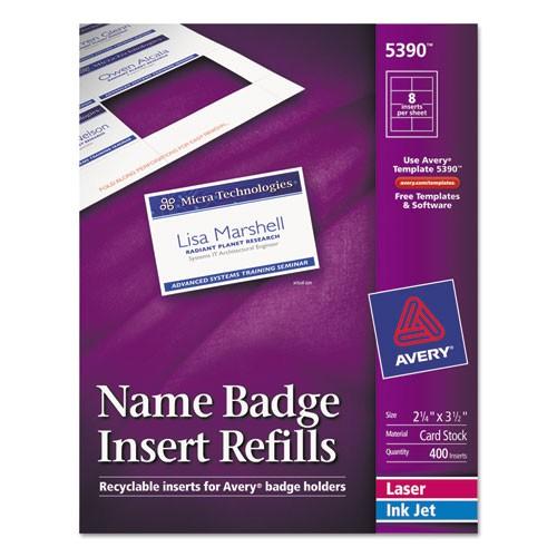 avery name badge inserts 5390