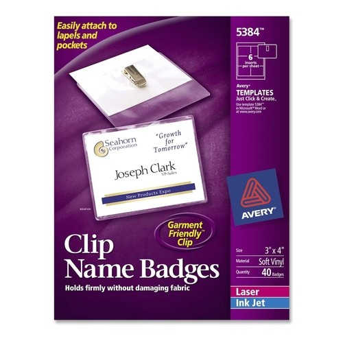 Avery Name Badges Template Printer