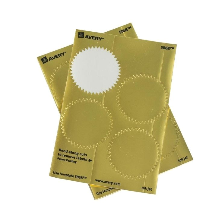 averyr 5868 print or write notarial seal labels gold pack of 44