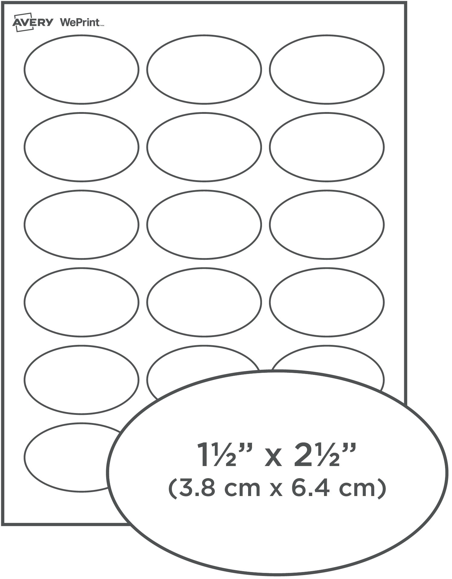 Avery Oval Label Template Oval Labels