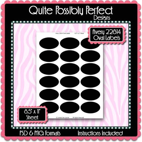avery 22814 oval labels template instant