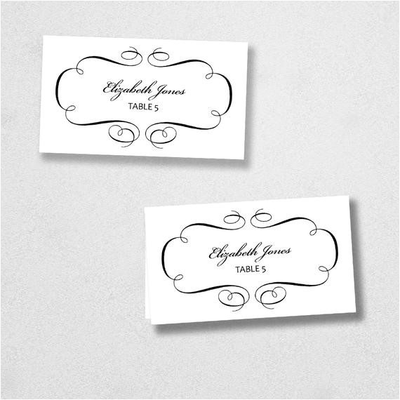 Avery Place Card Template for Mac Printable Place Card Template Instant Download Escort Card