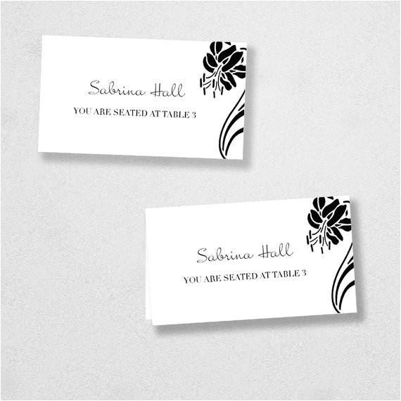 Avery Place Card Templates Items Similar to Avery Place Card Template Instant