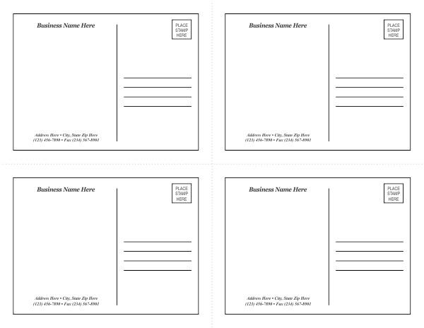 post avery postcard templates 47522