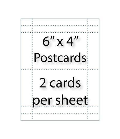 postcards 6 x 4 2 up avery 5389 compatible