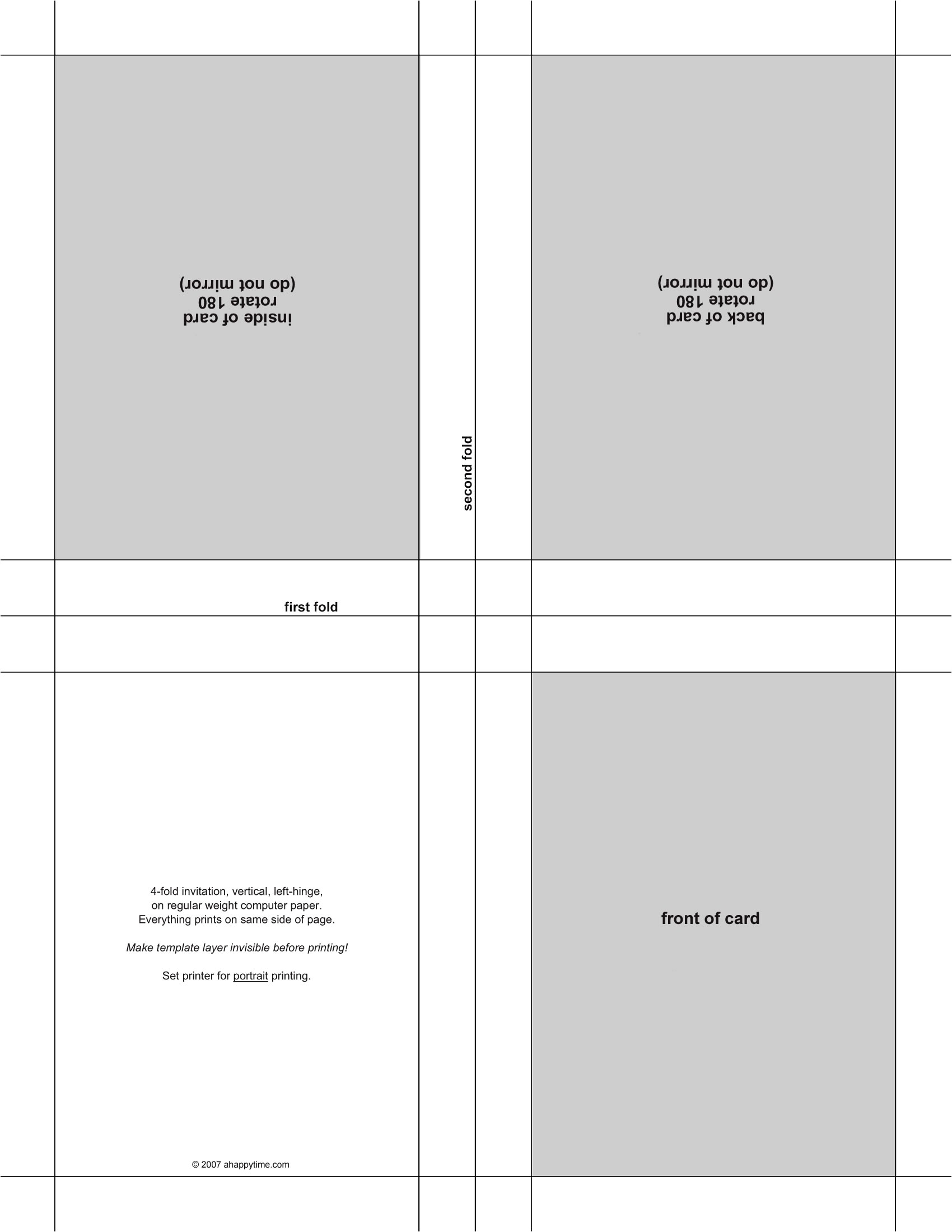 p postcard template 4 per page 123047