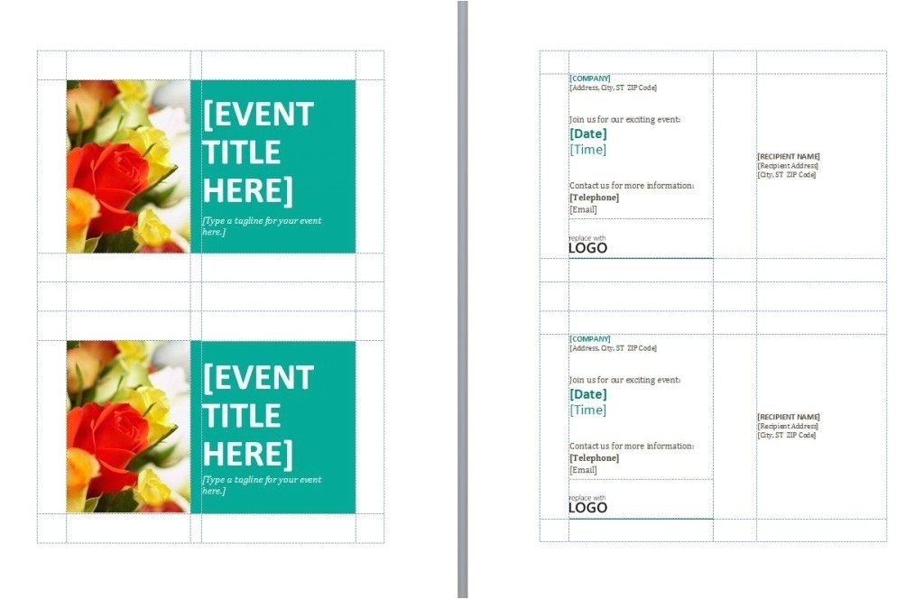 avery postcard template 5389