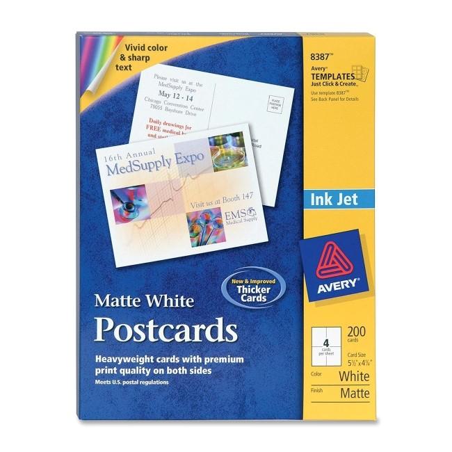 avery 8387 inkjet postcard 2674456 prd1