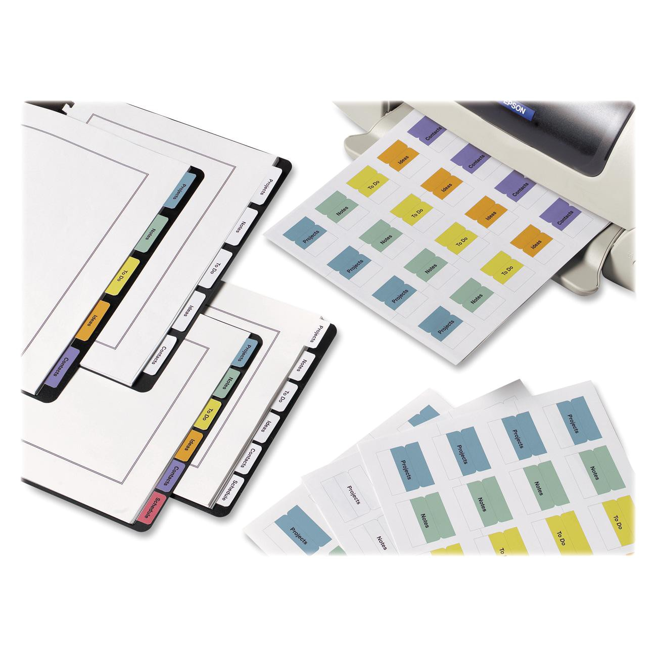 avery ave16282 printable self adhesive tab