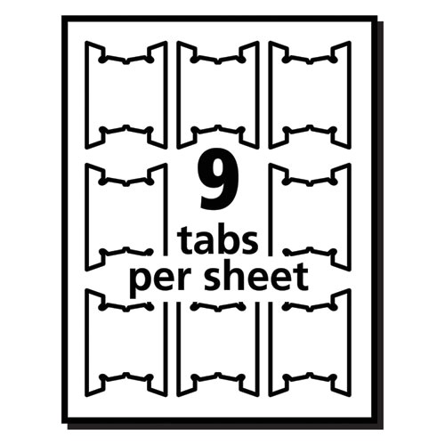 Avery Printable Tabs Template Avery 5567 Printable Hanging File Tabs