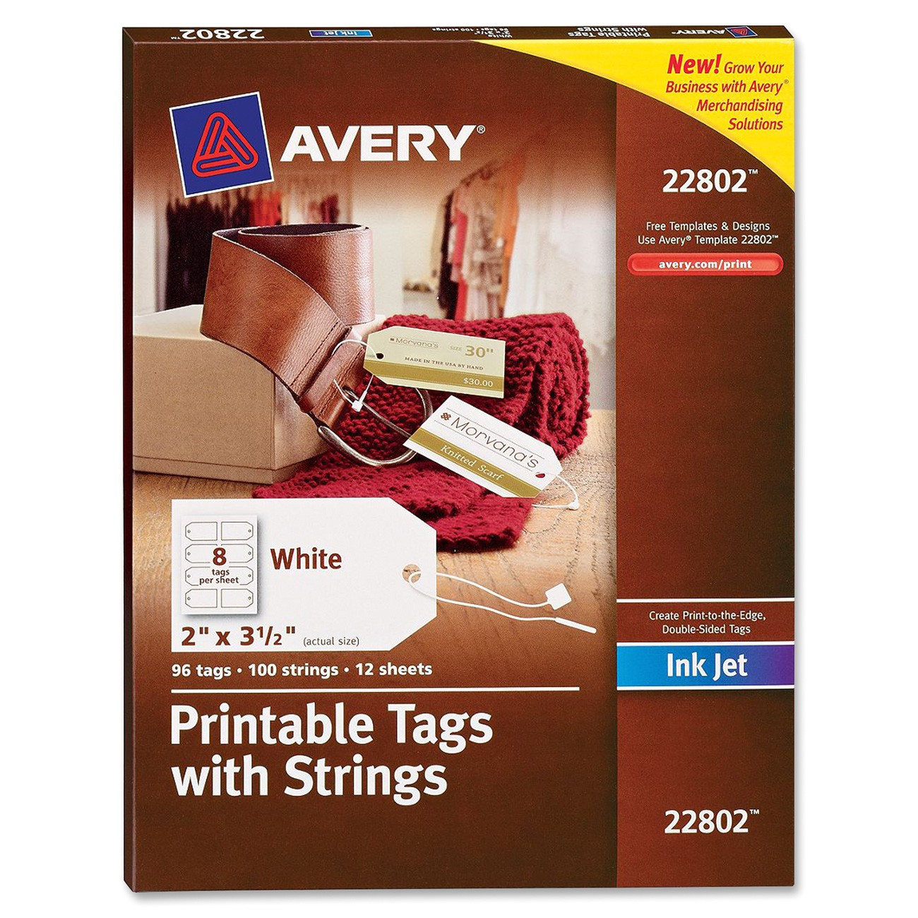ave22802 avery 22802 printable marking tag