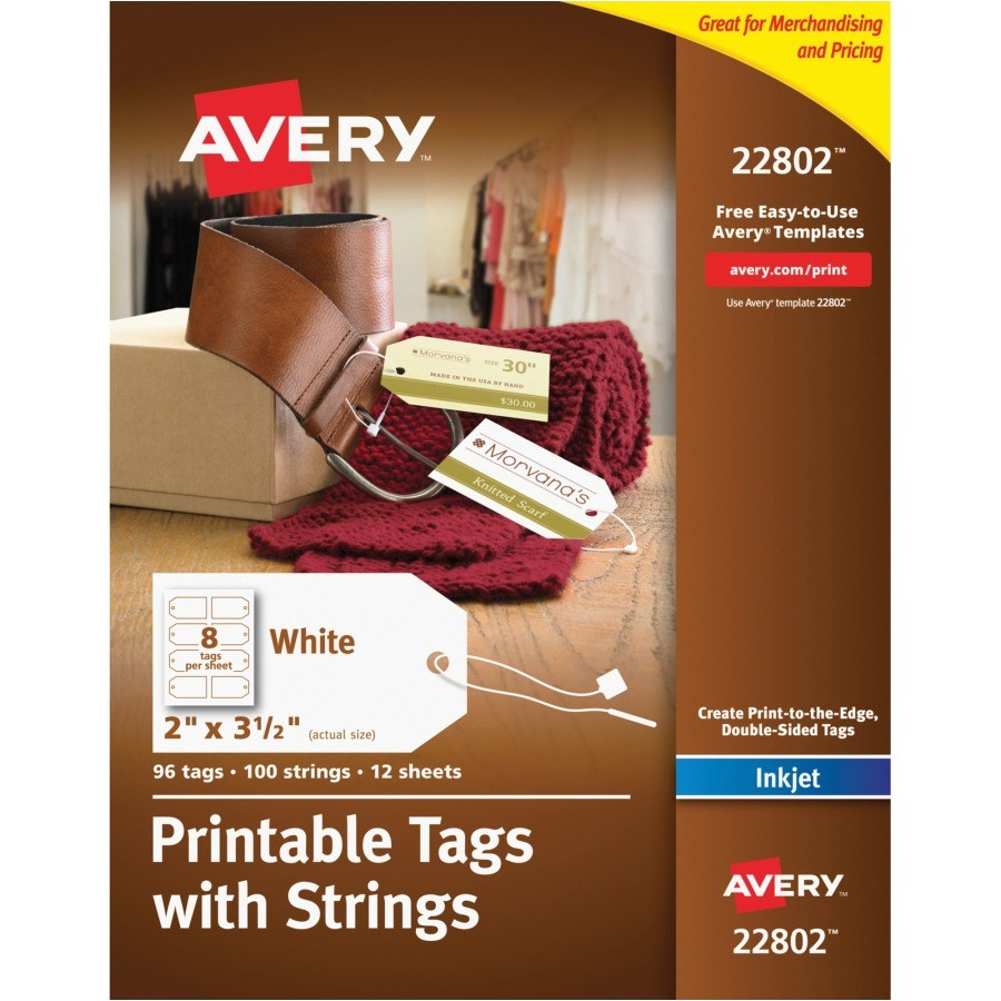 Avery Printable Tags with Strings Template Avery Printable Tags with Strings