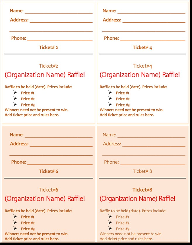 Avery Printable Tickets Template 20 Free Raffle Ticket Templates with Automate Ticket