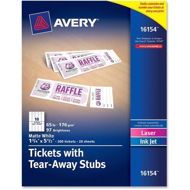 post avery raffle tickets printable 423496