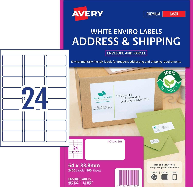 Avery Products Templates Enviro Address Labels 959122 Avery Australia