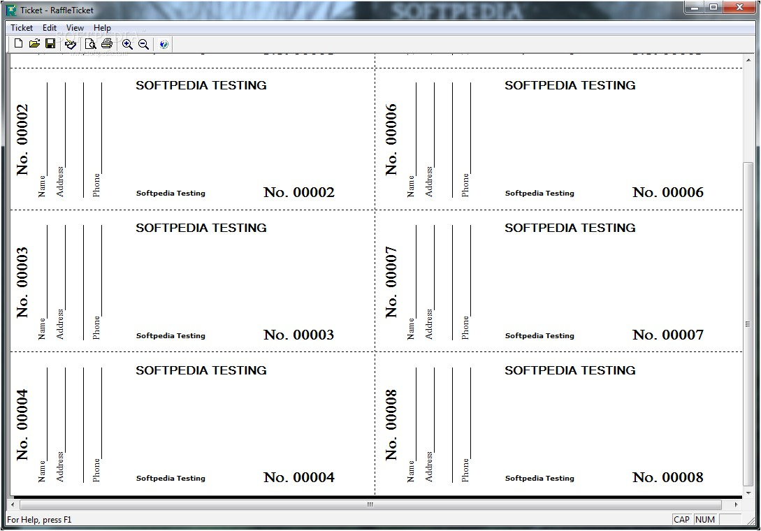 Avery Raffle Ticket Template Free Download 6 Best Images Of Free Printable Numbered Raffle Ticket
