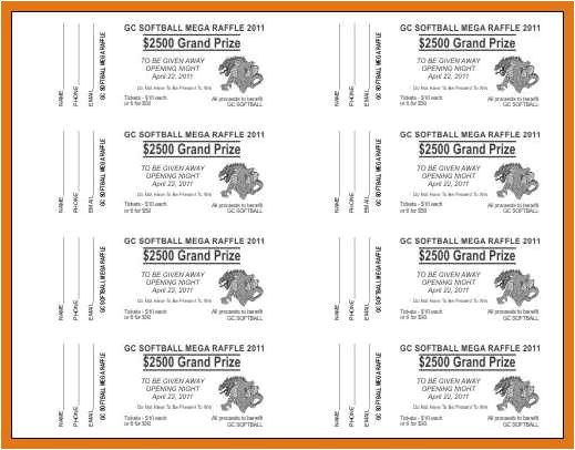 Avery Raffle Ticket Templates Raffle Ticket Template Free Letter format Business