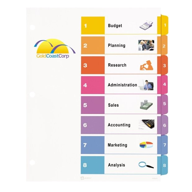Avery Ready Index 12 Tab Template Avery Table Of Contents Template 10 Tab Brokeasshome Com