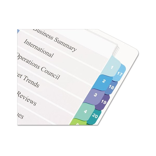 Avery Ready Index Double Column Dividers 32 Tabs Template Ready Index Customizable Table Of Contents Double Column