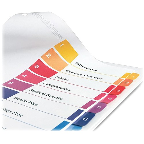 Avery Ready Index Template 11818 Avery 11135 Ready Index Table Cont Dividers W Color Tabs
