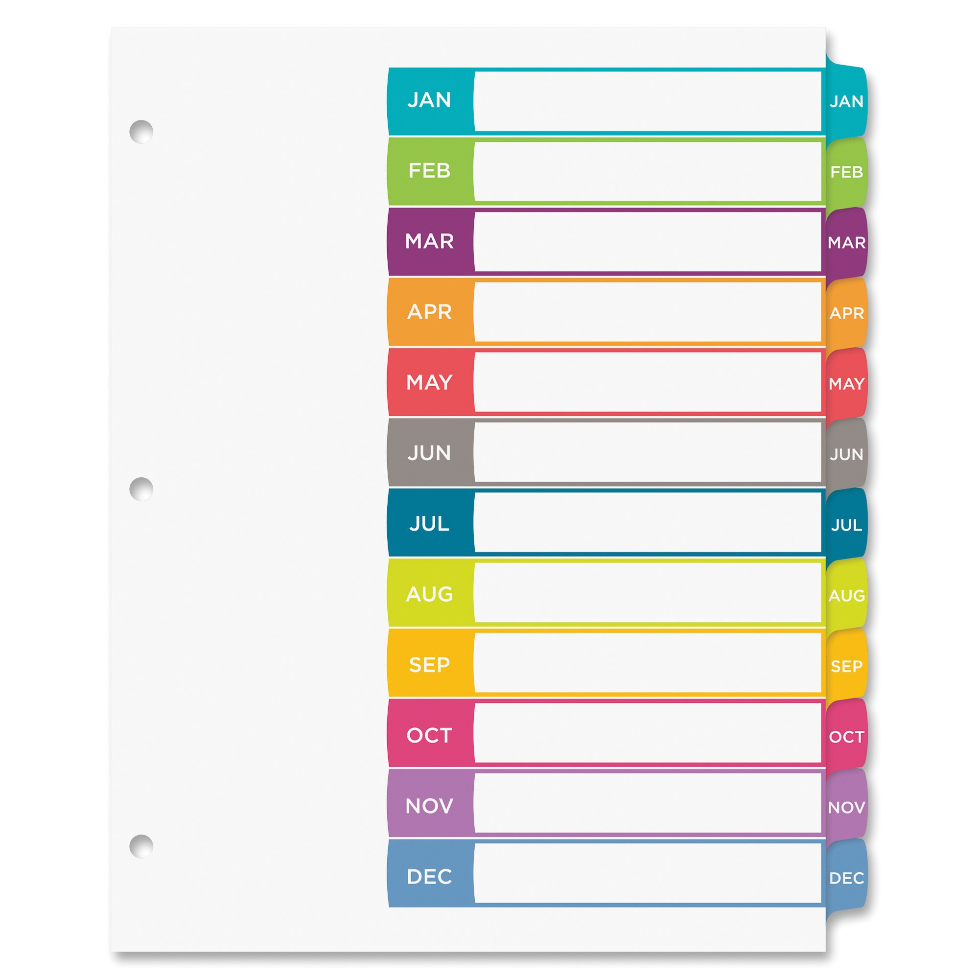avery ready index customizable table of contents contemporary multicolor dividers ave11847