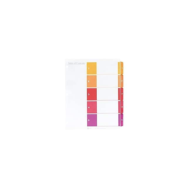 Avery Ready Index Template 5 Tab 11187 Avery Ready Index Landscape Table Of Contents Dividers 5