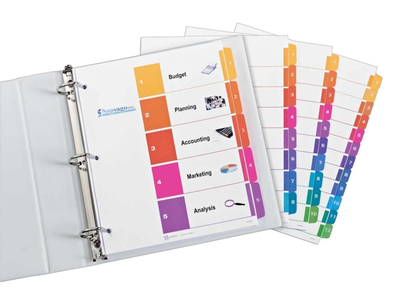 Avery Ready Index Template 5 Tab 11187 Professional Ready Index Dividers organization