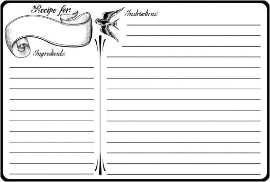 Avery Recipe Card Template 40 Recipe Card Template and Free Printables Tip Junkie