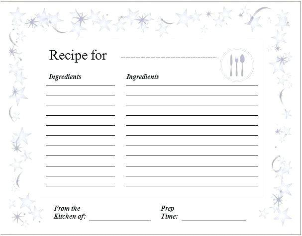 avery recipe card template 8387