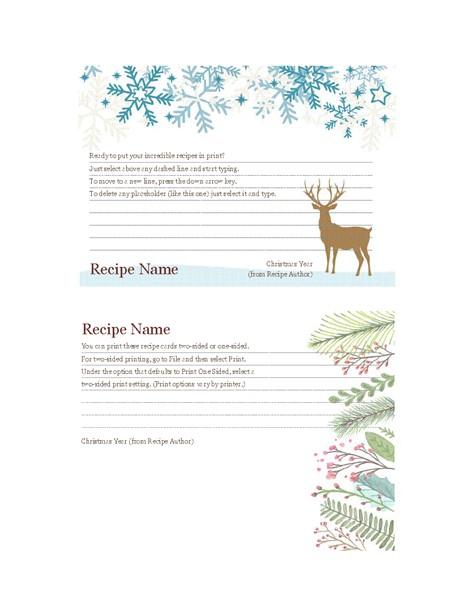 christmas recipe cards tm00002050