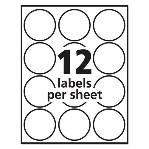 Avery Round Sticker Template Avery 22807 Labels