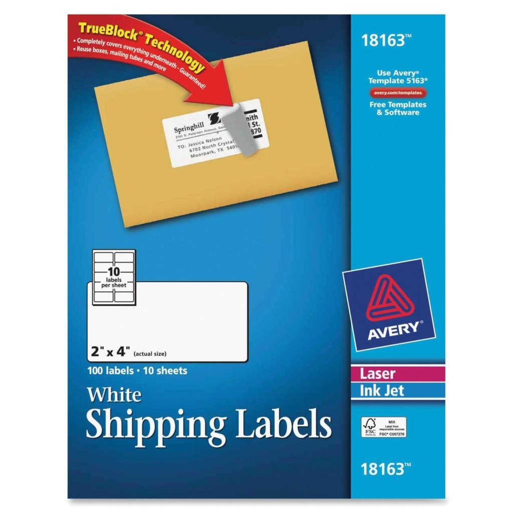 Avery Shipping Label 10 Per Sheet – 2 X 4 Template 2 X 4 Label Template 10 Per Sheet and Avery Laser Inkjet