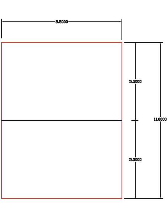 laser ink jet labels 1000 sheets 8 12 x