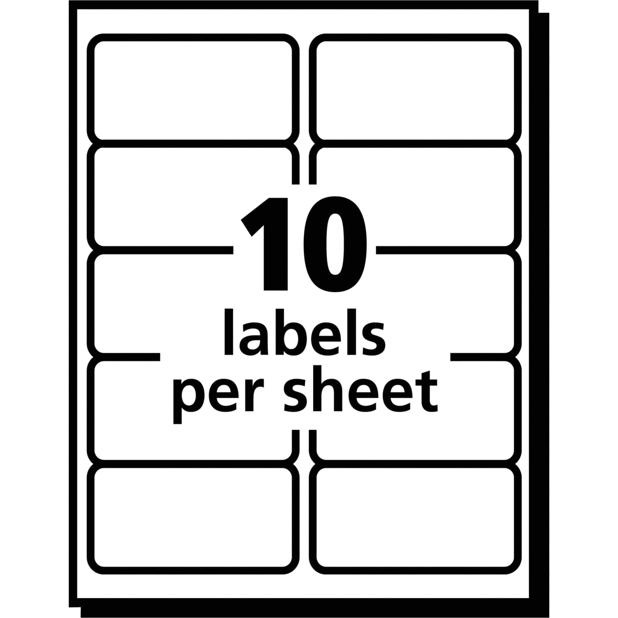 Avery Shipping Label Template 5163 2 X 4 Label Template 10 Per Sheet Pccatlantic