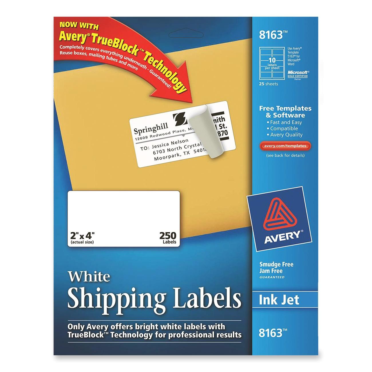 Avery Shipping Label Template 8163 Printer