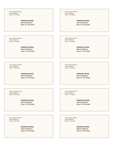 Avery Shipping Label Template 8163 Shipping Labels Sienna Design 10 Per Page Works with