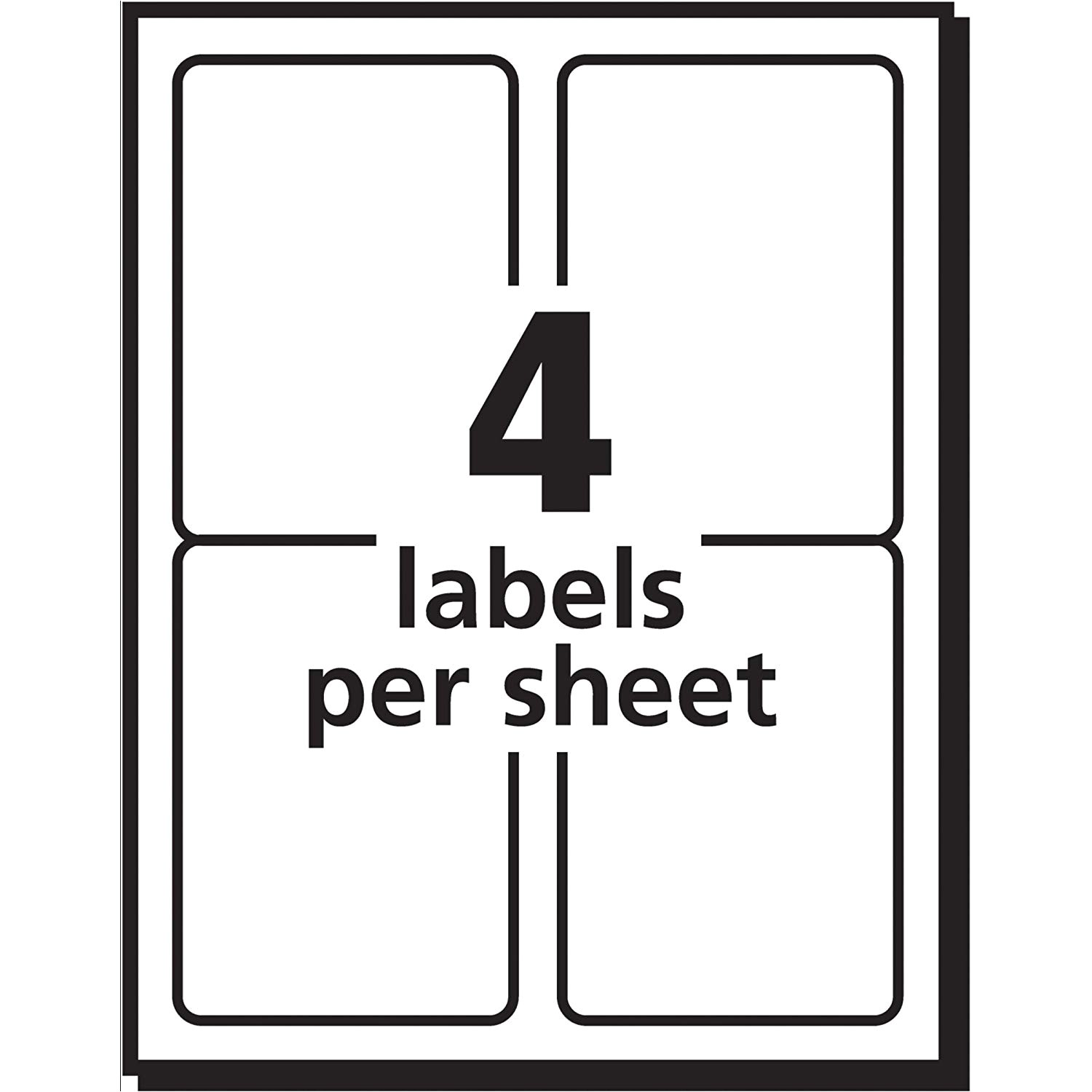 Avery Shipping Label Template 8168 Avery Shipping Labels for Inkjet Printers 3 5 X 5 Inches