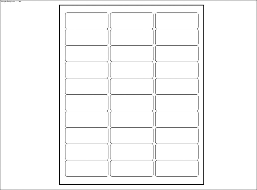 33 labels per sheet template