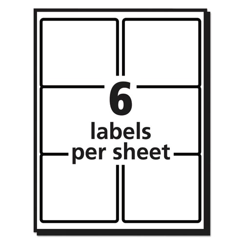 shipping labels wultrahold ad and trueblock inkjet 3 13 x 4 white 600box ave8464