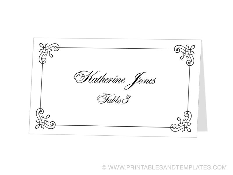 tent card template