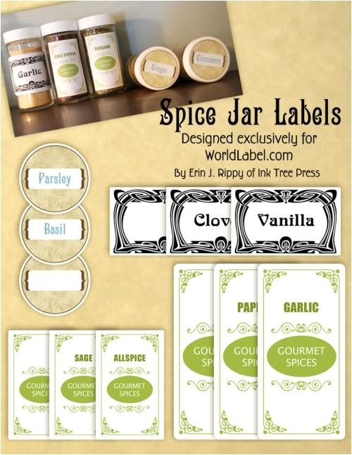 spice jar labels by ink tree press