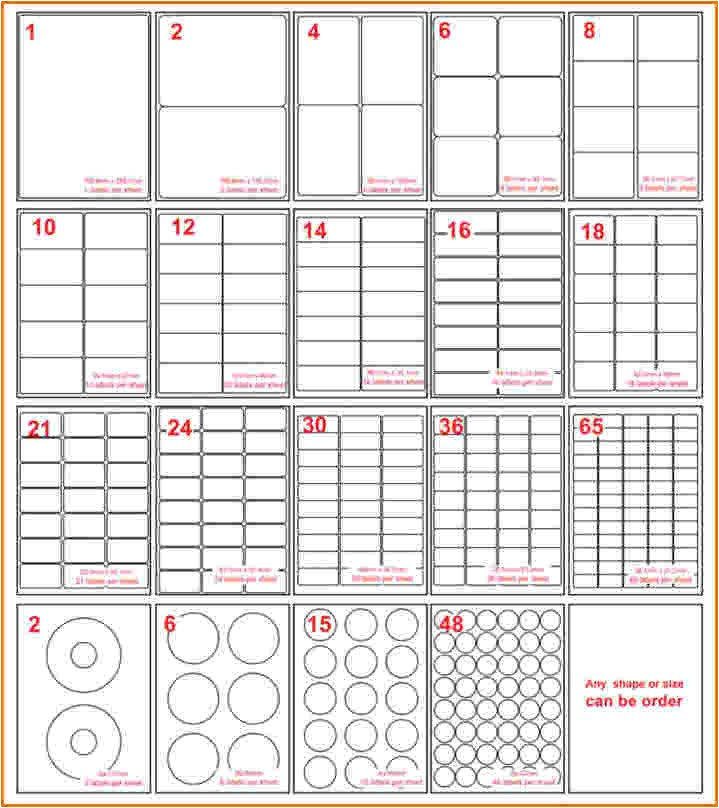Avery Standard Label Template 5 Avery Label Sizes Divorce Document