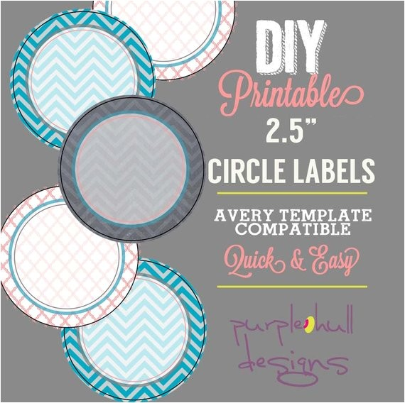 circle label sticker avery template 25