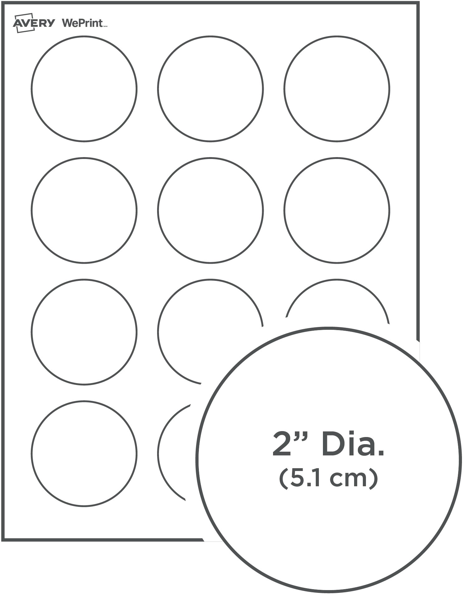 Avery Sticker Templates Circle Round Labels