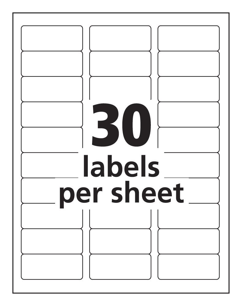 Avery Template 30 Labels Per Sheet 30 Labels Per Sheet Template Avery Templates Resume