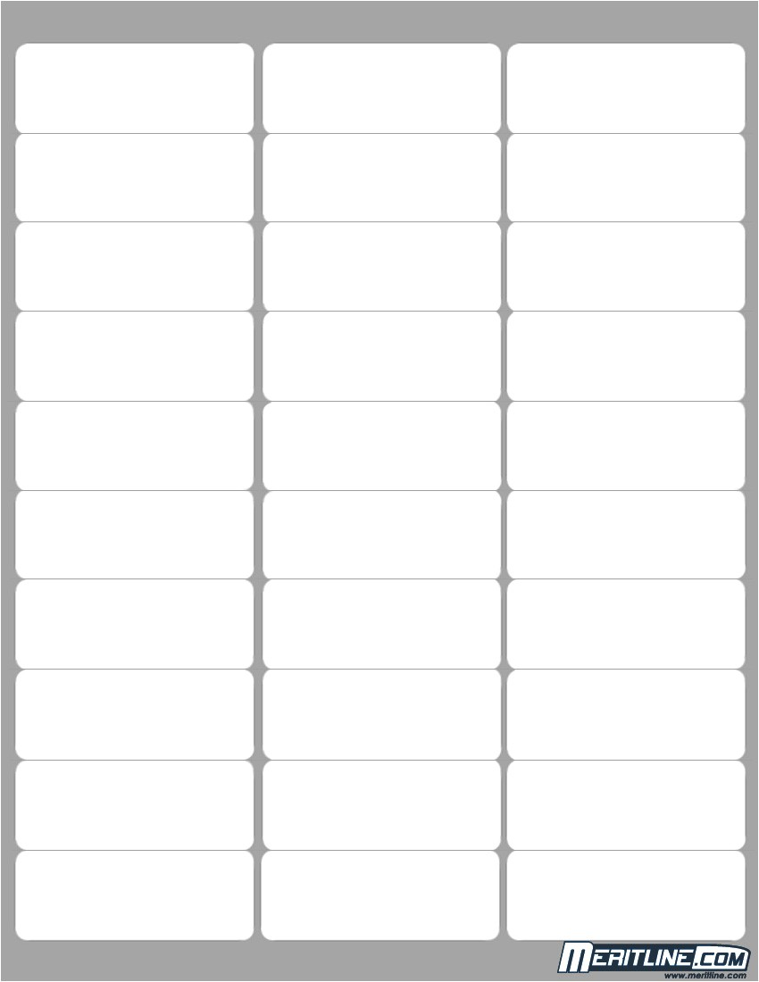 Avery Template 8 Per Page Avery 30 Label Template Printable Label Templates