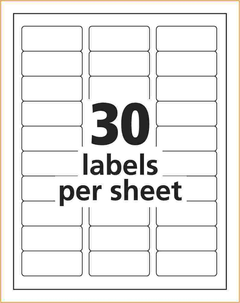 Avery Template Address Labels Address Label Template Avery 8160 Templates Resume