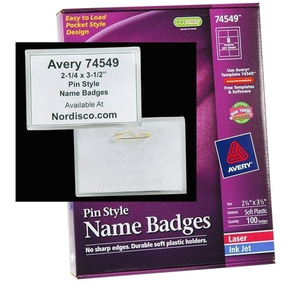 avery name badge template