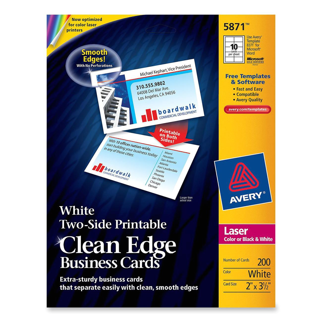 clean edge laser business card ave5871 2172411 prd1